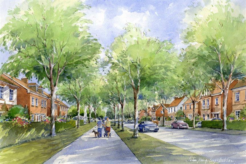 An artist's impression of plans for Welborne Garden Village. Image: Buckland Developments
