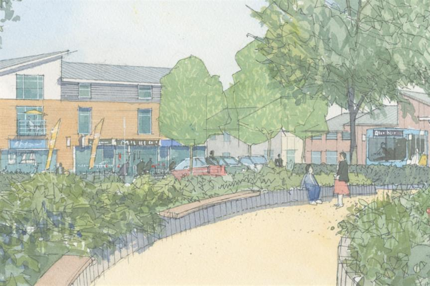 An artist's impression of plans for the West Hemel Hemsptead site. Image: Barratt David Wilson, Taylor Wimpey, Stimpsons and Bletsoes