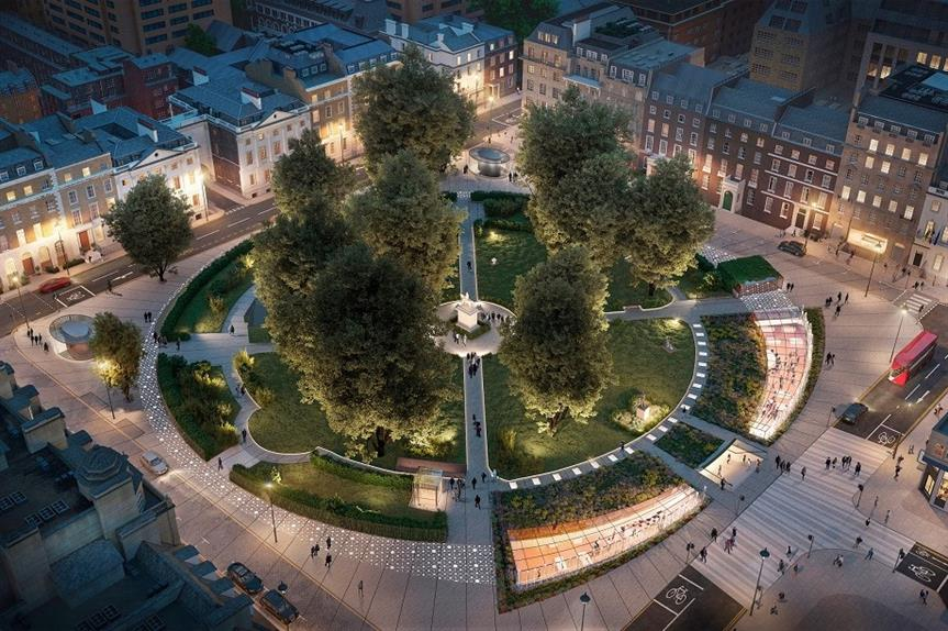 A visualisation of the Cavendish Square Gardens health and wellbeing scheme. Pic: Reef Group