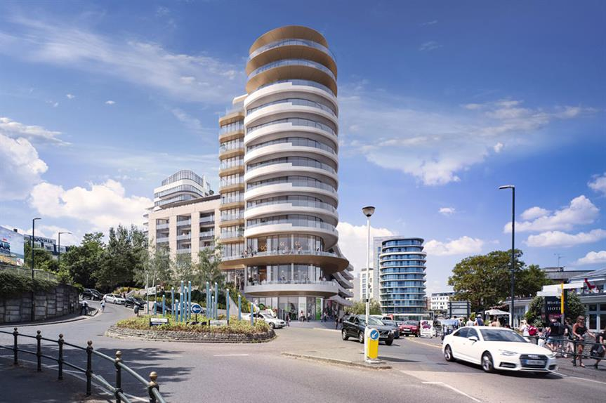 A visualisation of the finished Winter Gardens development in Bournemouth