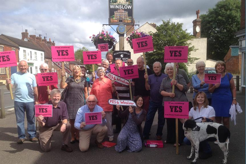 'Yes' vote campaigners in Winslow. PIc: YES4Winslow