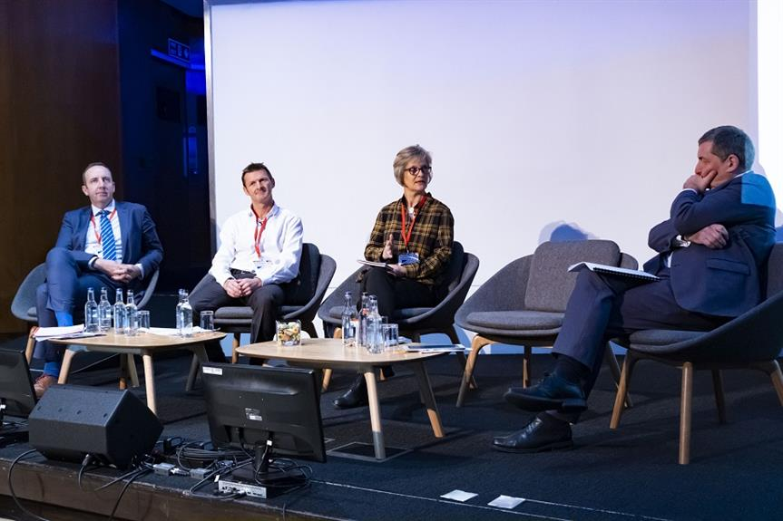 Tibbalds' Jane Dann (second right) at the Planning for Housing Conference