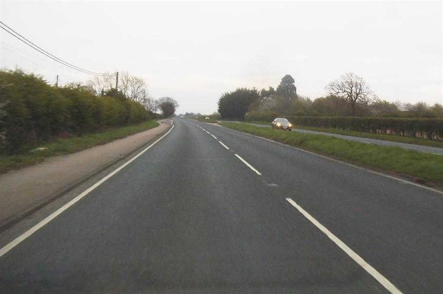The A133 close to the proposed new roundabout (pic: David Howard, Geograph)