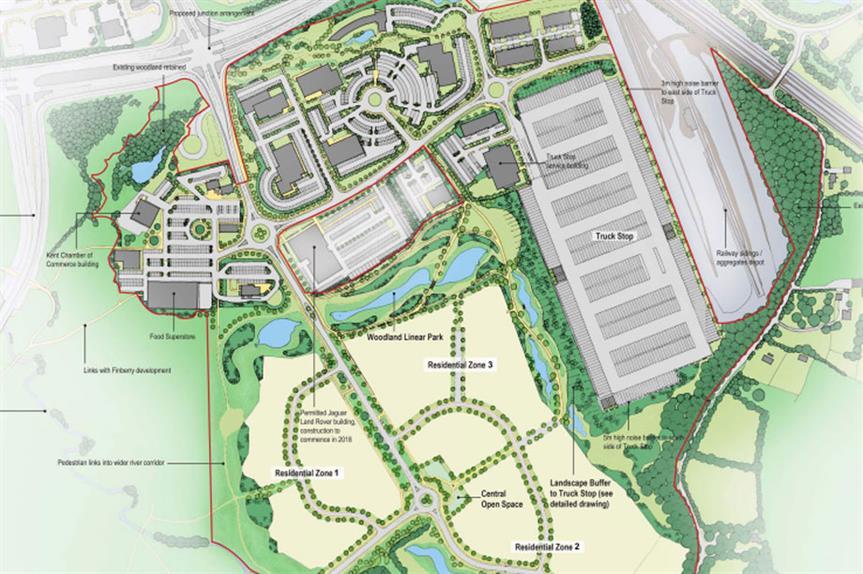 A masterplan visualisation of the development