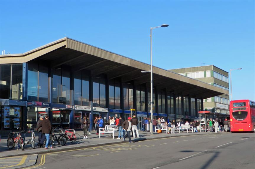 Barking Station with Trocoll house (right) [pic diamond geezer via Flickr]