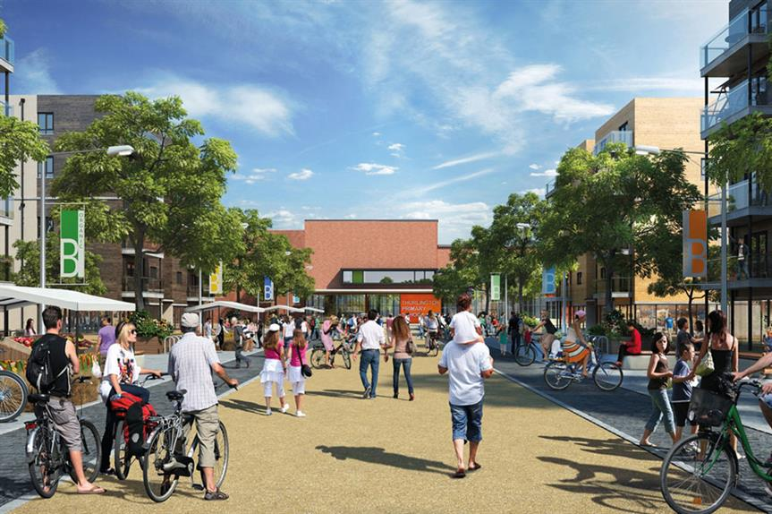 Large settlement: a visualisation of plans for Bicester Garden Town