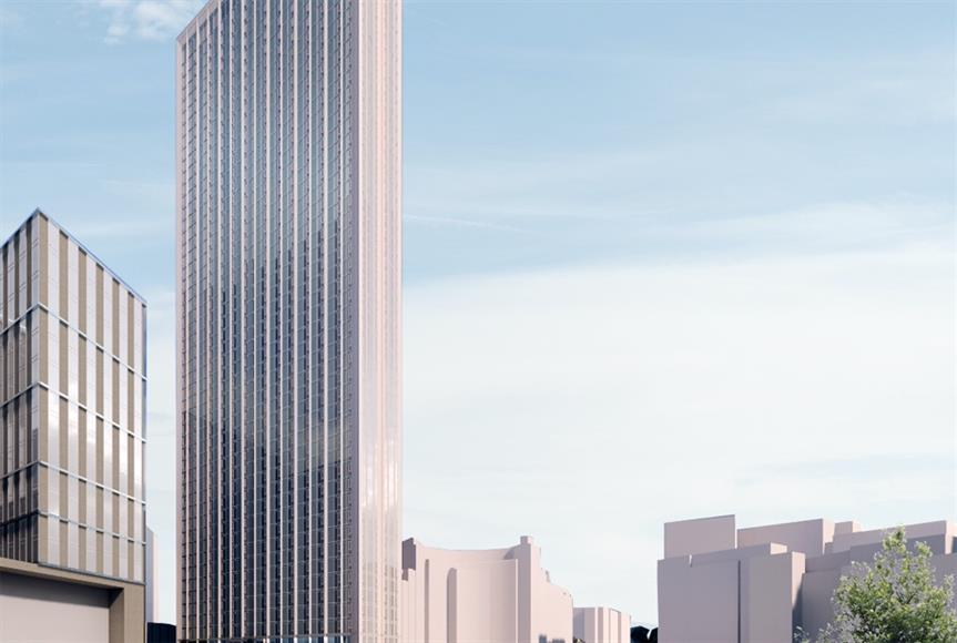 A visualisation of the One Eastside development - image: Court Collaboration