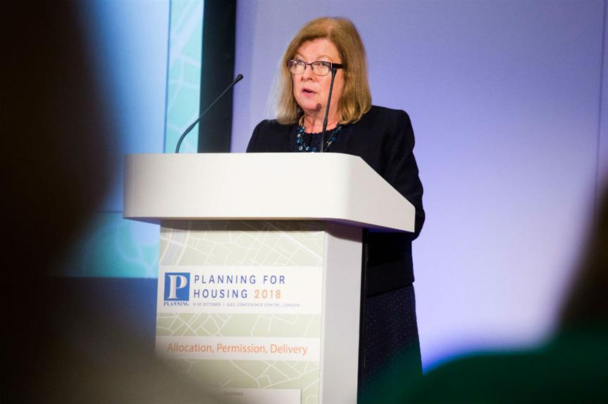 Roberta Blackman-Woods speaking at the Planning for Housing conference yesterday