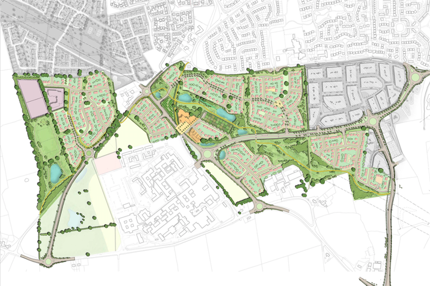 The proposed site masterplan (Pic: Vistry Partnerships and Bloor Homes)