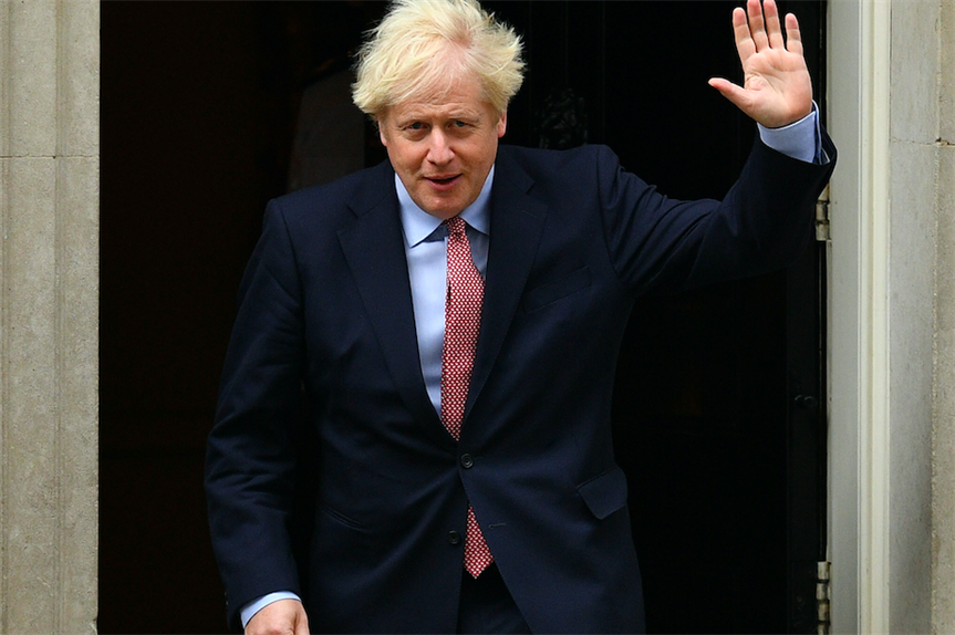 Boris Johnson on his way to the Conservative Party conference (Pic: Getty)