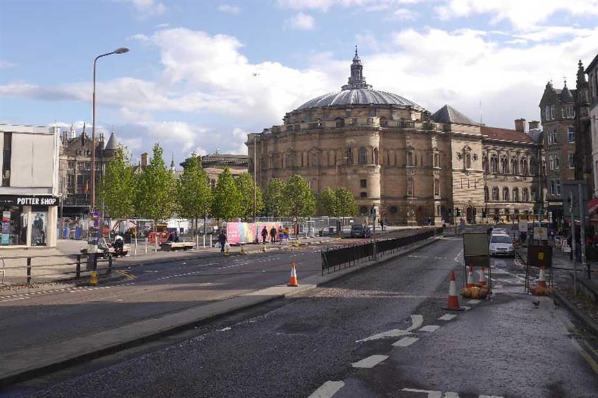 Bristo Square (pic: cc-by-sa/2.0 - © Richard Webb - geograph.org.uk/p/5812368)