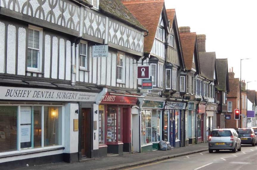 High Street, Bushey (pic: © Copyright Stephen McKay, Geograph)