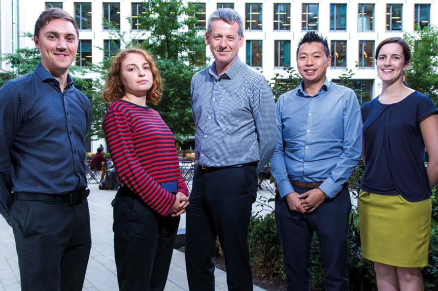 The development management team: (left-to-right): senior planning officer John Diver, planning officer Nora-Andreea Constantinescu, area manager Alex Bushell, planning enforcement officer Raymond Yeung and planning officer Alyce Keen