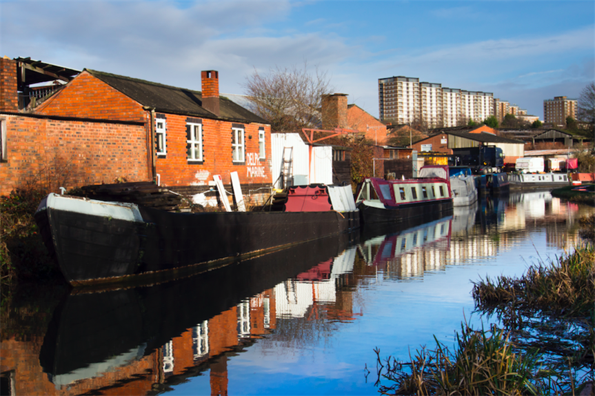 Stourbridge Canal in the Black Country, one of the areas to receive funding (Pic: Getty)