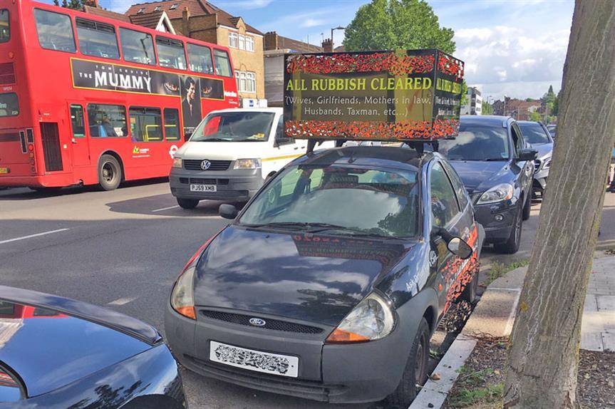 Illegal billboards: council fines businessman (pic: London Borough of Barnet)