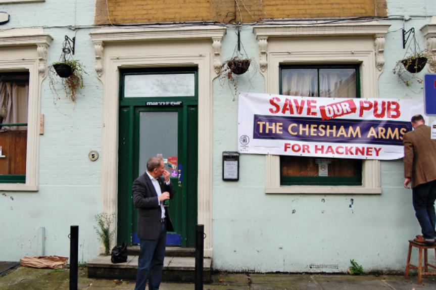 Hackney: the disused Chesham Arms has been listed as an Asset of Community Value