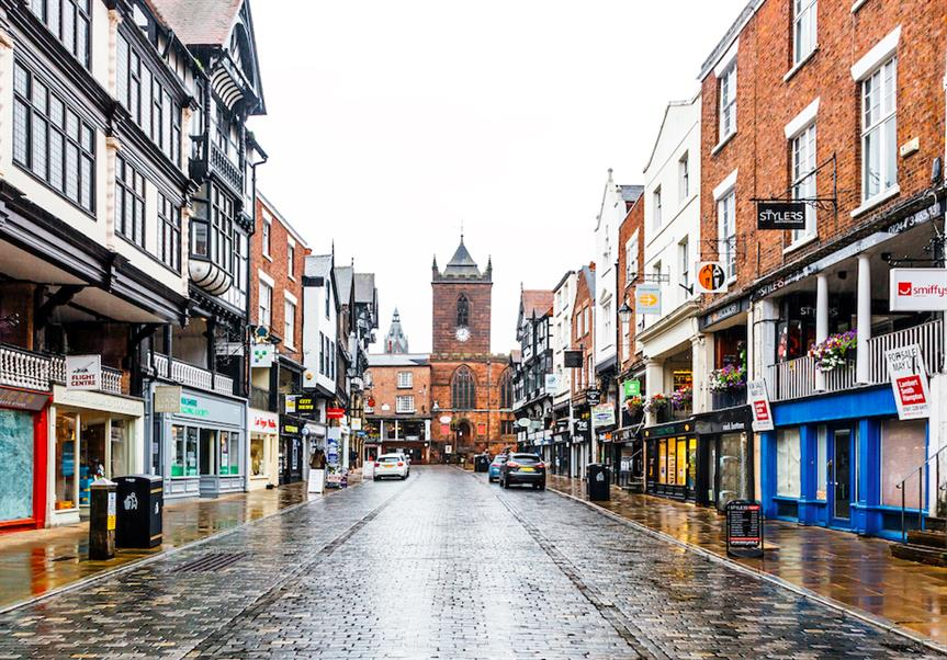 A street in Chester town centre (Pic: Getty)
