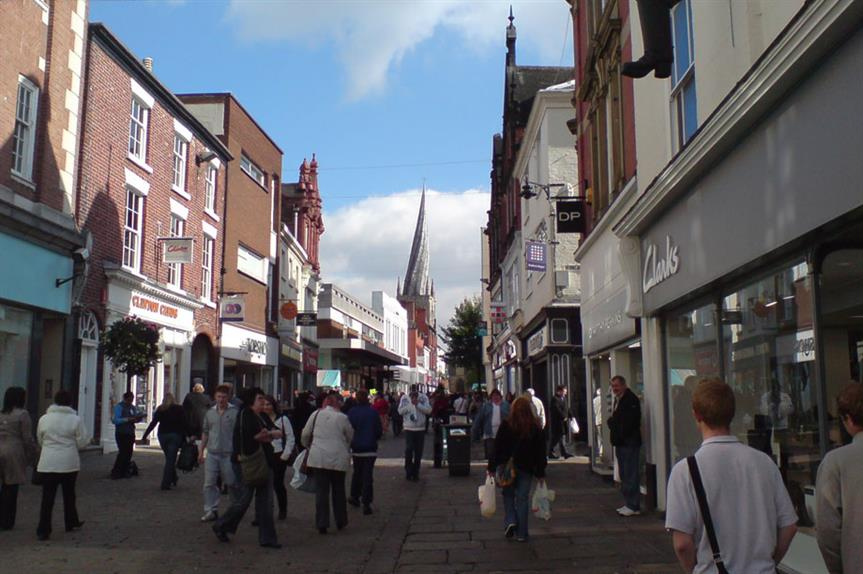 Chesterfield in North East Derbyshire. Pic: thinkpublic via Flickr