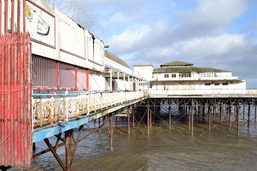 Colwyn Bay Pier: in 'dangerous condition'