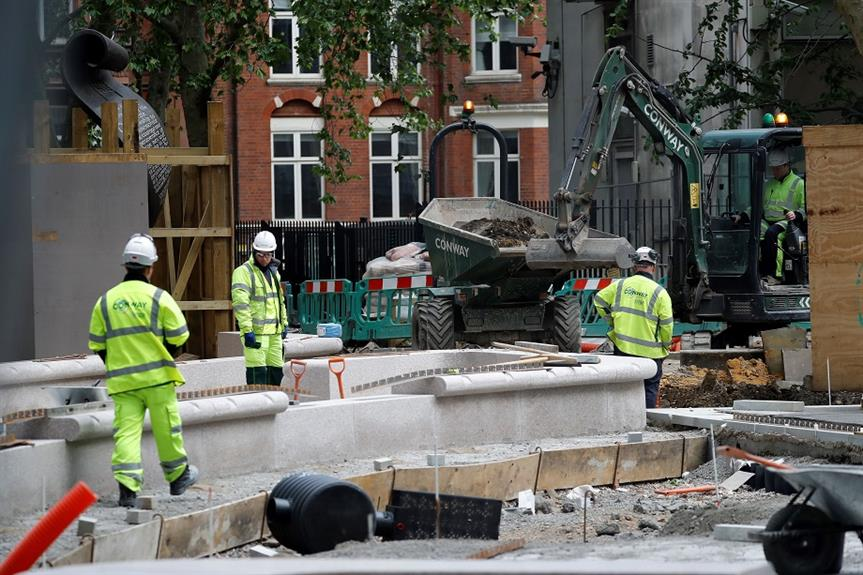 A construction site in central London. Pic: Getty Images