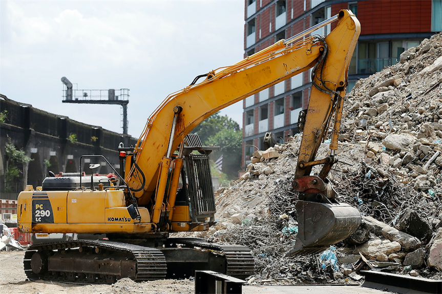 Demolition under way in London (Pic: Getty)
