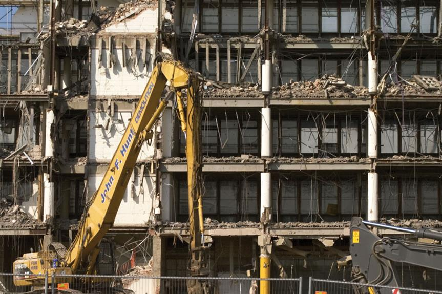 Demolition: the planning minister has proposed to extend rights regime to allow homes to replace workspace