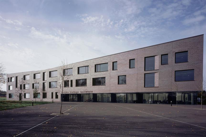 Good design: Christ's College, Guildford, which was shortlisted for the 2010 RIBA Stirling Prize