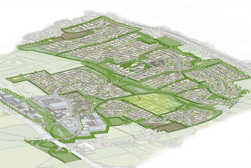A visualisaion of the Eastern Green development