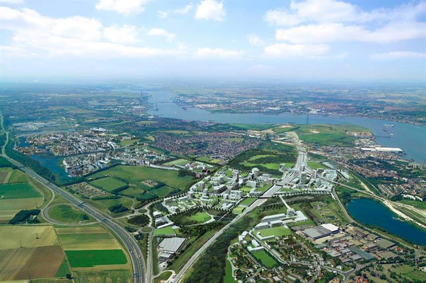Ebbsfleet: project lies within boundaries of proposed development corporation