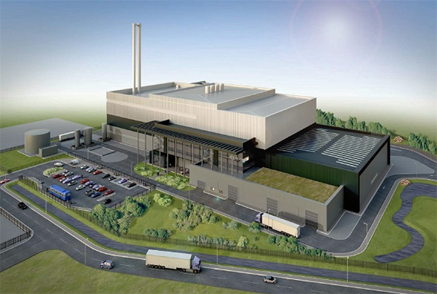 Plans for energy from waste facility approved. Image by Miller Turner