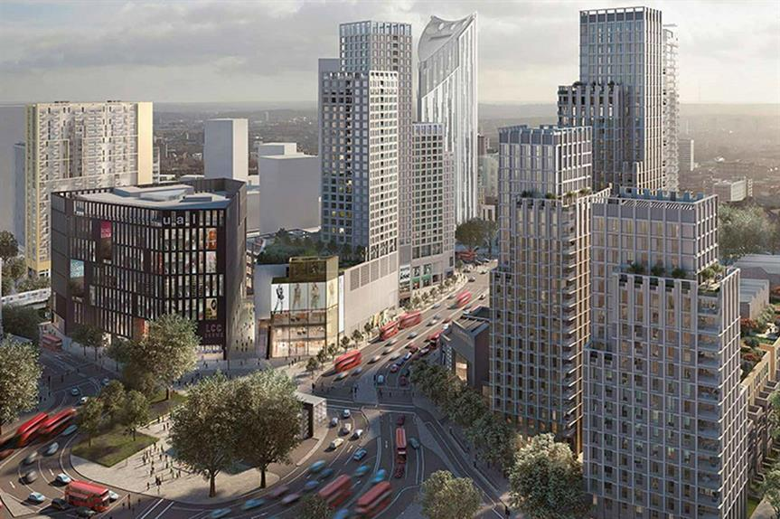 A visualisation of plans for the regeneration of Elephant and Castle. Pic: Delancey