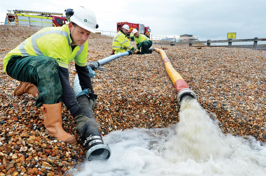 Flooding: row over government spending