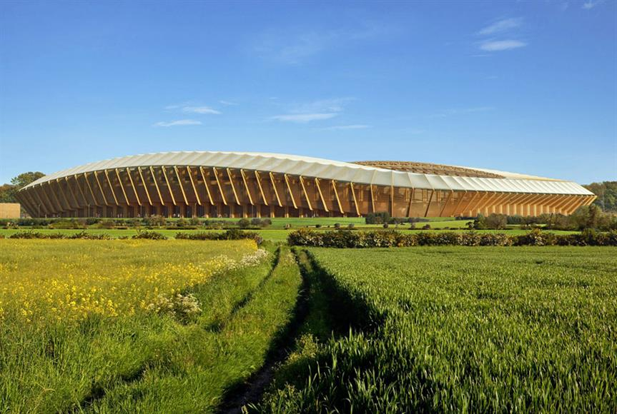 A visualisation of the rejected stadium in Stroud. Image by Forest Green Rovers