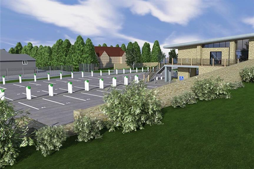 A visualisation of the proposed vehicle charging station - image: Archi Wildish