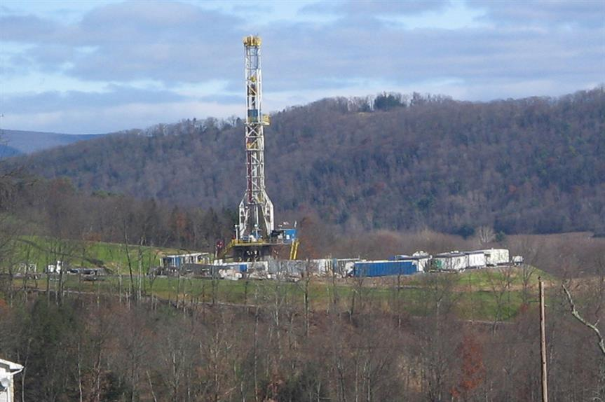 A fracking well in the USA
