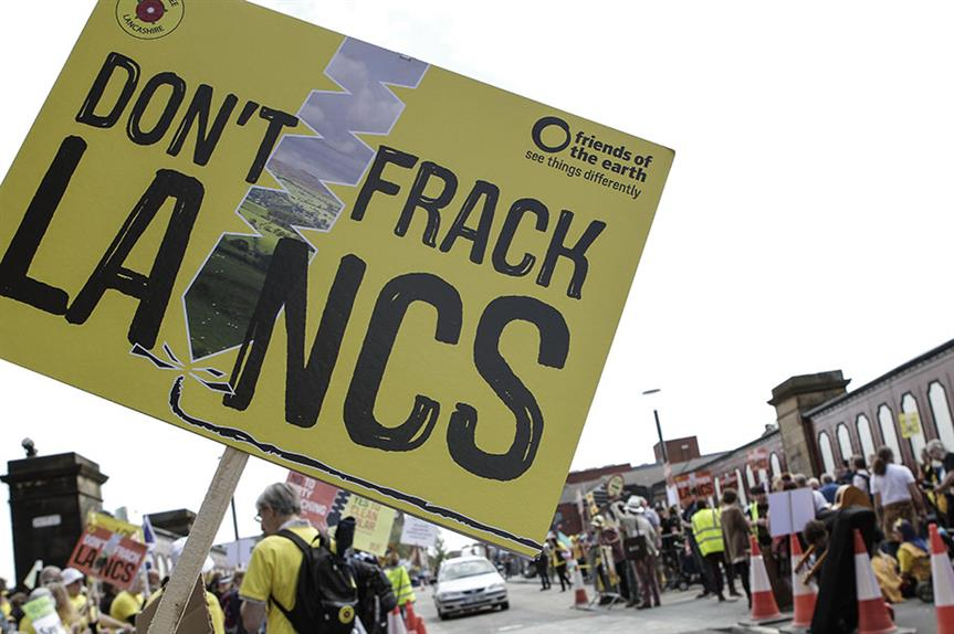 Fracking protest (picture: Friends of the Earth)