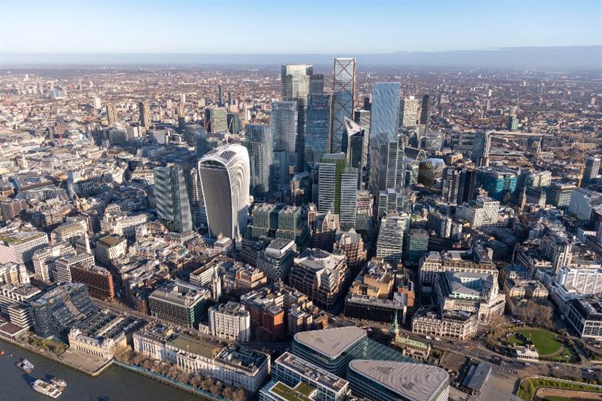 A visualisaion of the future City skyline - image: Didier Madoc Jones of GMJ / City of London Corporation