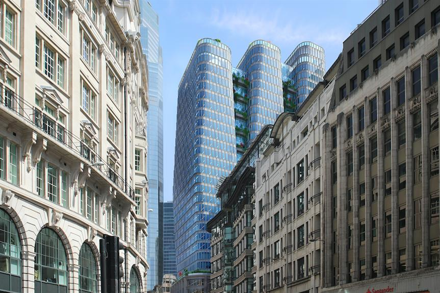 A visualisation of the proposed tower at 70 Gracechurch Street (Pic: Tenacity)