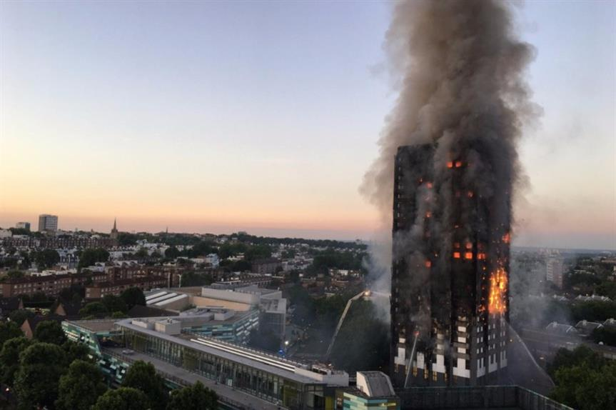 Grenfell Tower: a devastating fire engulfed the 24-storey block last week (picture: Natalie Oxford)