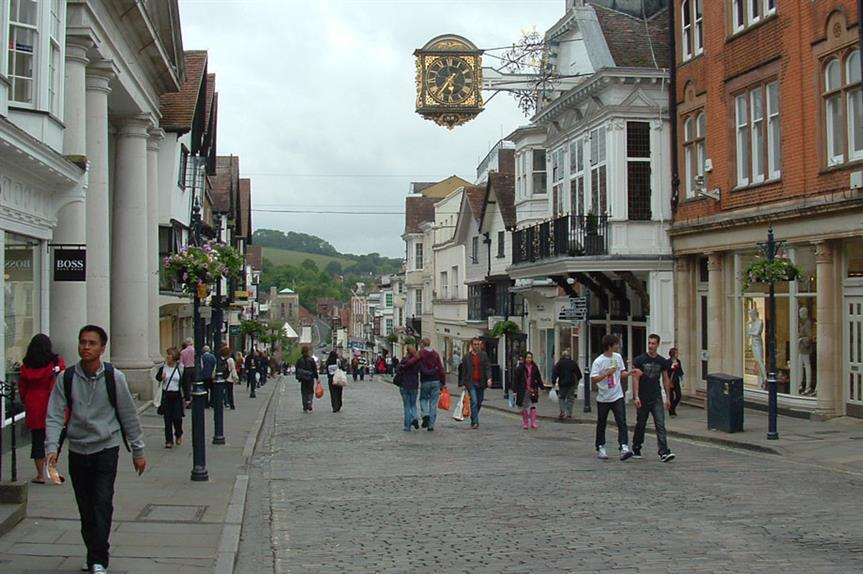 Guildford: council's housing land supply target reduced