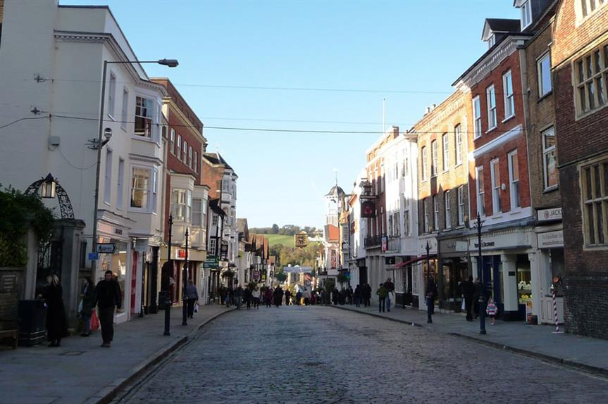 Guildford town centre (pic John Lord, Flickr)