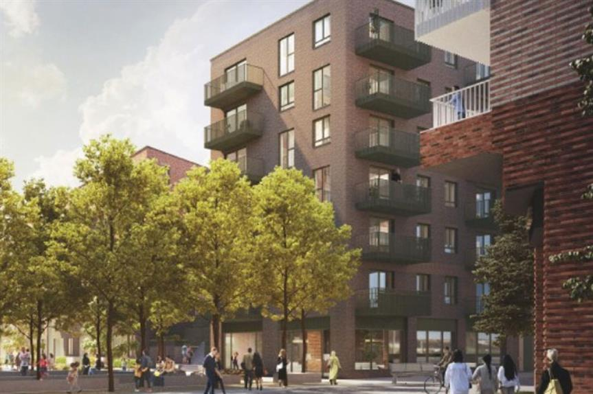 A visualisation of part of the finished scheme (pic: Harrow View LLP)