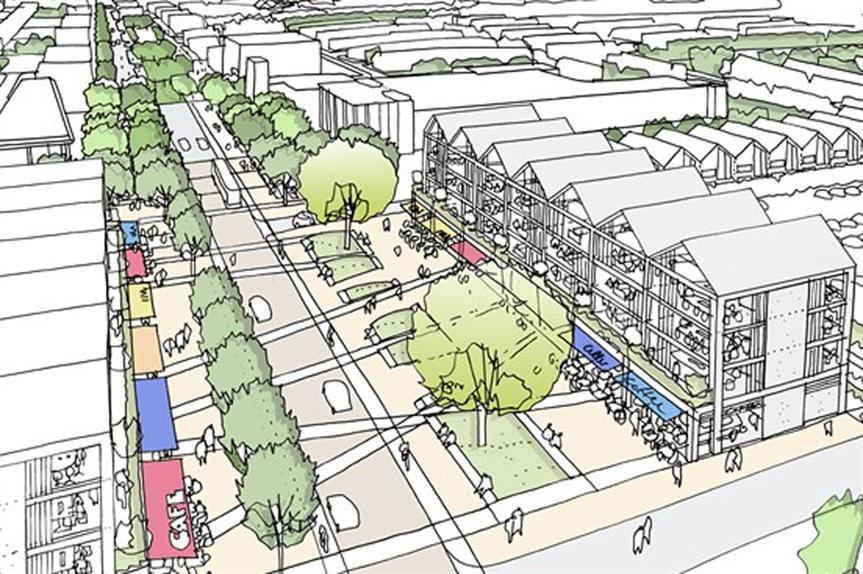 A visualisation of part of the finished Hengrove Park scheme (pic: Bristol City Council)