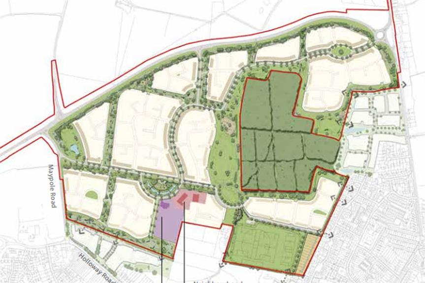 A masterplan image of the Heybridge North scheme (pic credit: Countryside Properties)