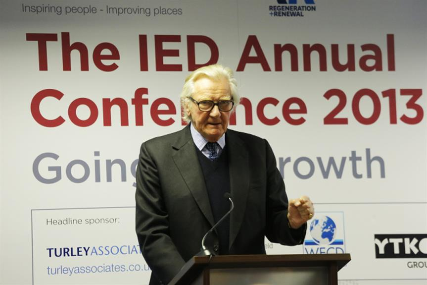 Lord Heseltine at the IED Conference earlier today