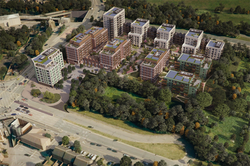 The proposed development in Hillingdon (Pic: Inland Homes)