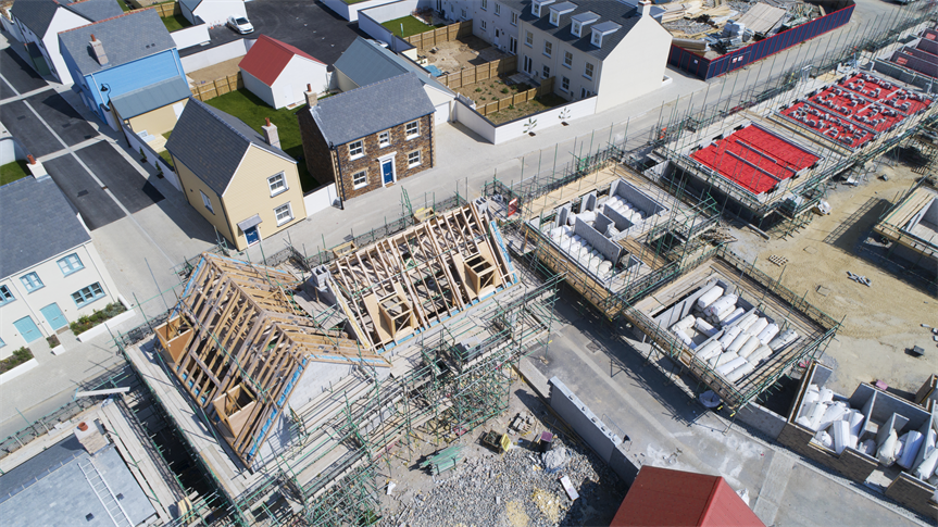 Housing development sites: sites of up to 50 homes could be exempt from affordable housing requirements under proposed new rules (Pic: Getty)