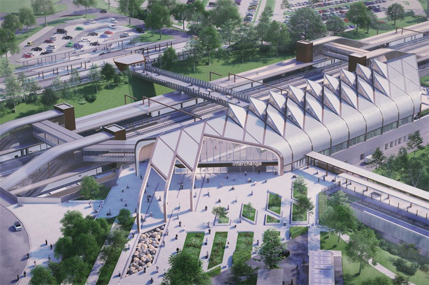 A visualisation of the new HS2 Interchange station in Solihull (Pic: HS2 Ltd)