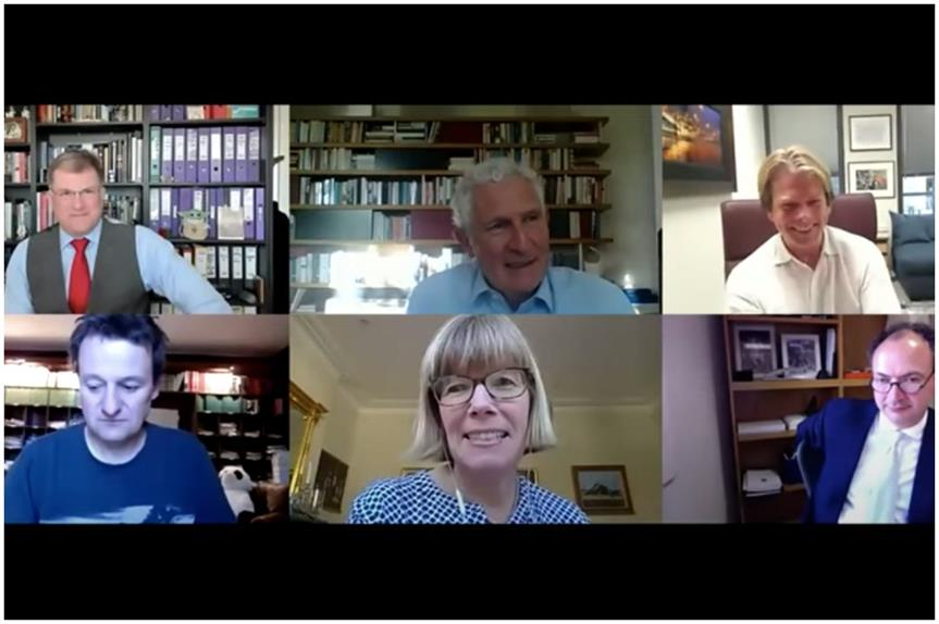 Peter Freeman (top middle) on 'Have We Got Planning News for You'