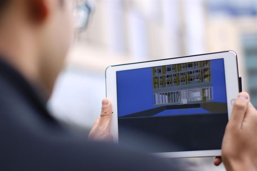 Augmented reality: experts are exploring how development proposals can be visualised in-situ via tablets and smartphones